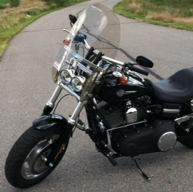 Harley Davidson Fat Bob Quick Release Compact Windshield