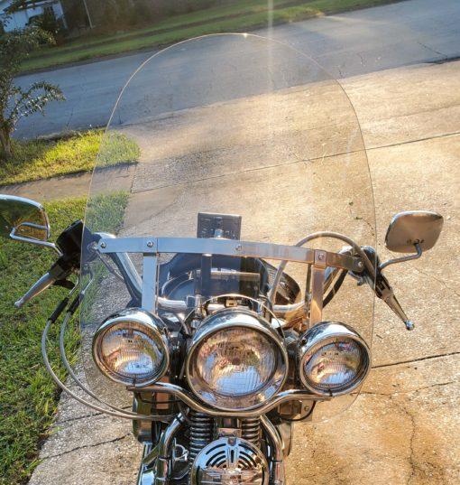 Harley Davidson Heritage Springer King Size Screen stock light gray tint