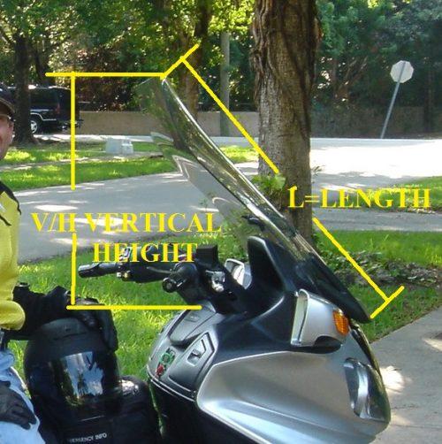 Suzuki Burgman windshield measurements