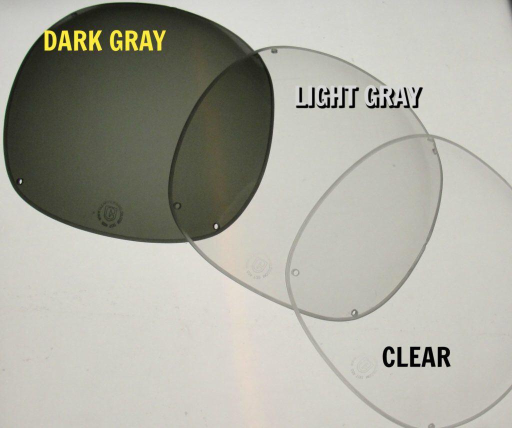 Suzuki Windshield Tints - Dk Gray, Lt Gray, Clear