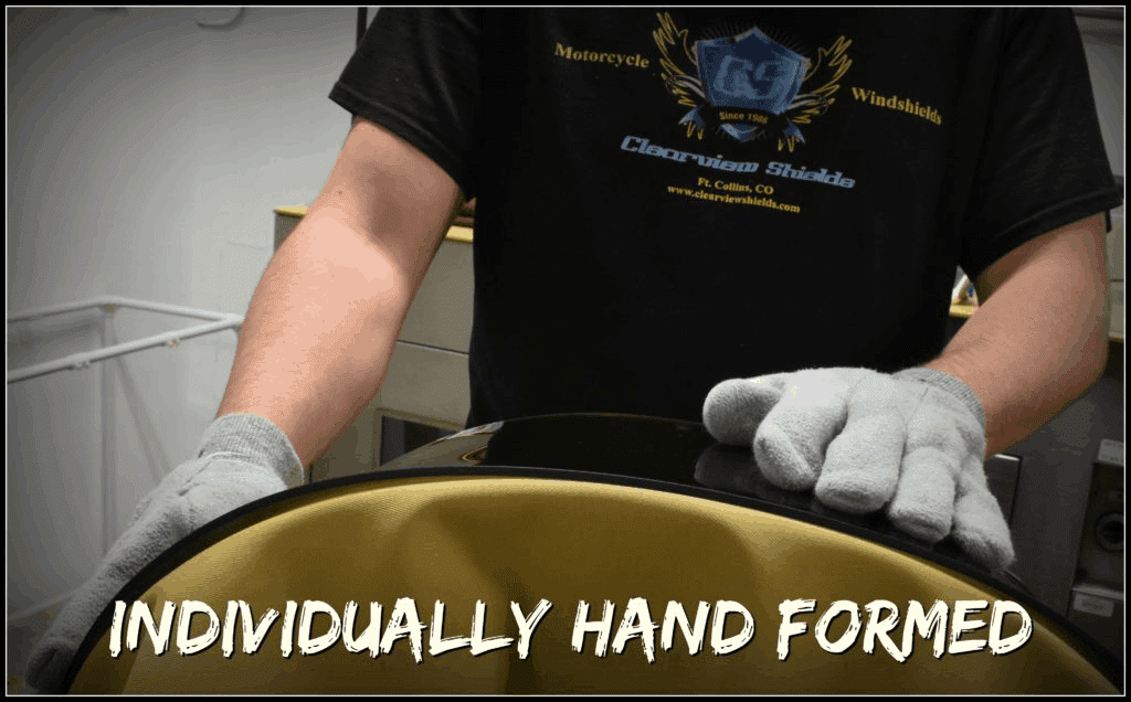 Clearview Shields are hand-formed