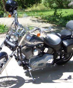 Harley Davidson Dyna Wide Glide / Softail Custom fits HD Detachable Compact Brackets
