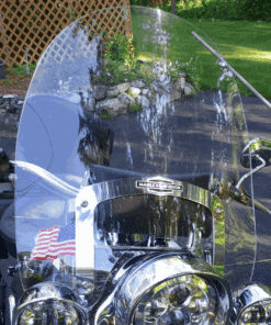 Harley Davidson | Softail Deluxe/Heritage/Fat Boy Windshield fits Nostalgic HD Detachable Brackets | 1988-2017