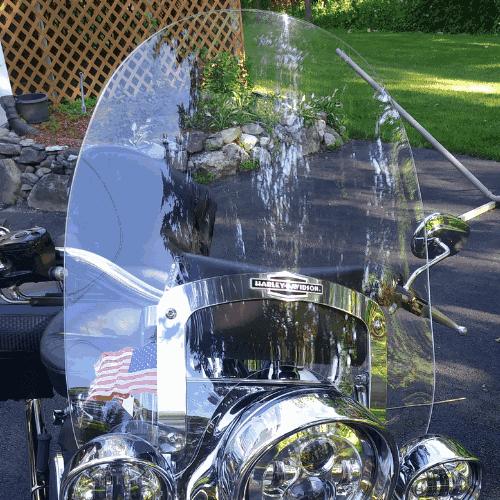 Harley Davidson Softail Deluxe Nostalgic Quick Detach windshield 2