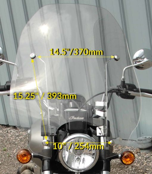 Indian Scout Quick Release Replacement Windshield 2015-Present