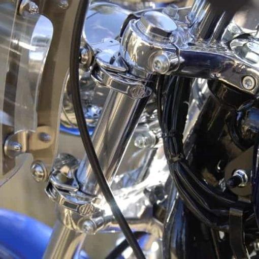 Harley Davidson Dyna Wide Glide 1993- 2005 / Softail FXST, FXSTC, FXSTB fits Quick Release Brackets Through 2010