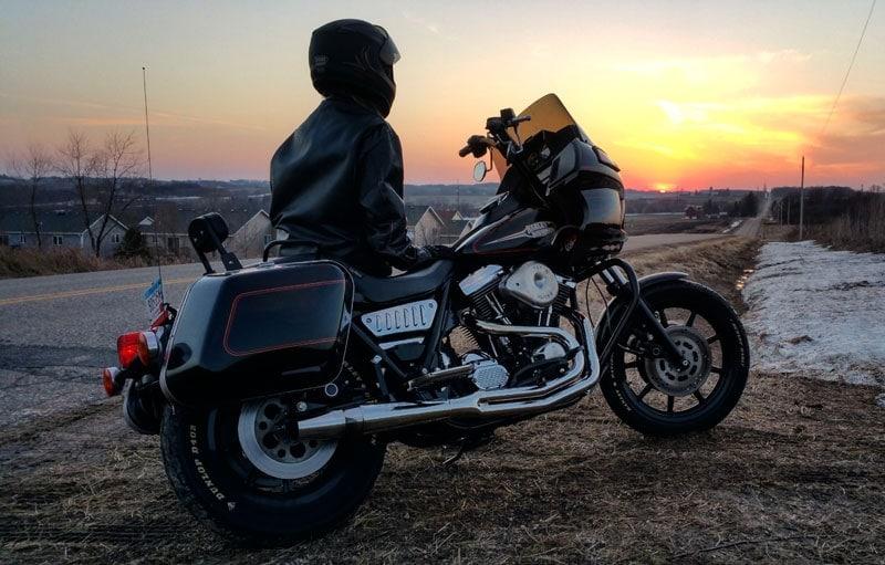 Harley Davidson FXRP windshield replacement