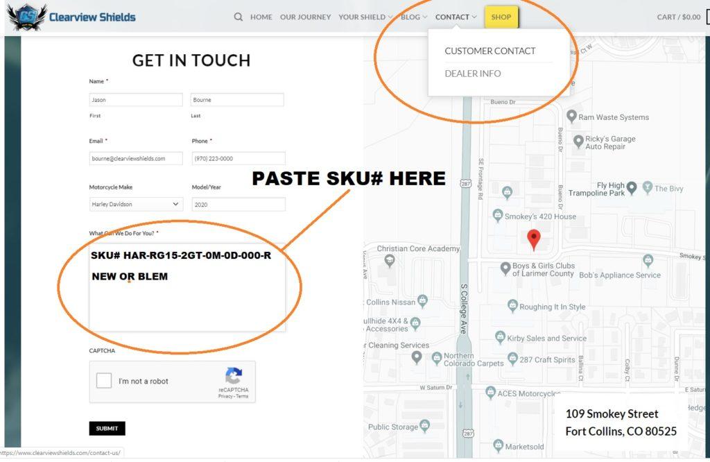 Product SKU instructions 3