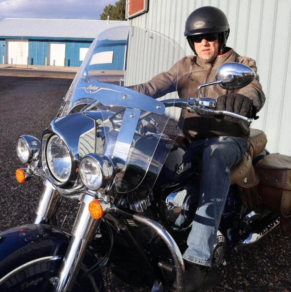 Craig owner of clearview shields motorcycle windshields