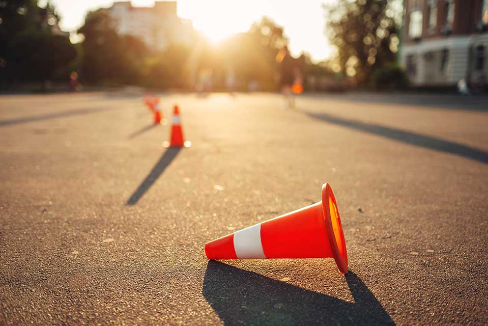 motorcycle safety school cones