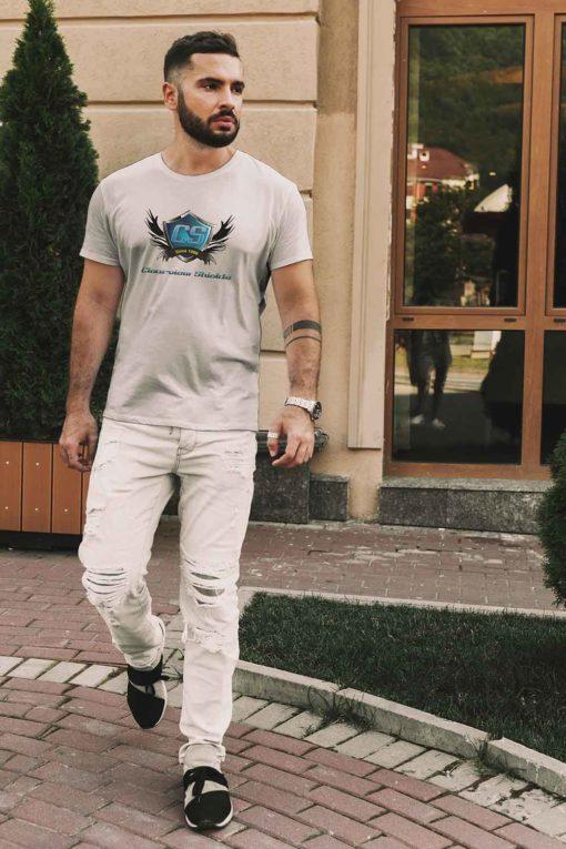 male silk shirt