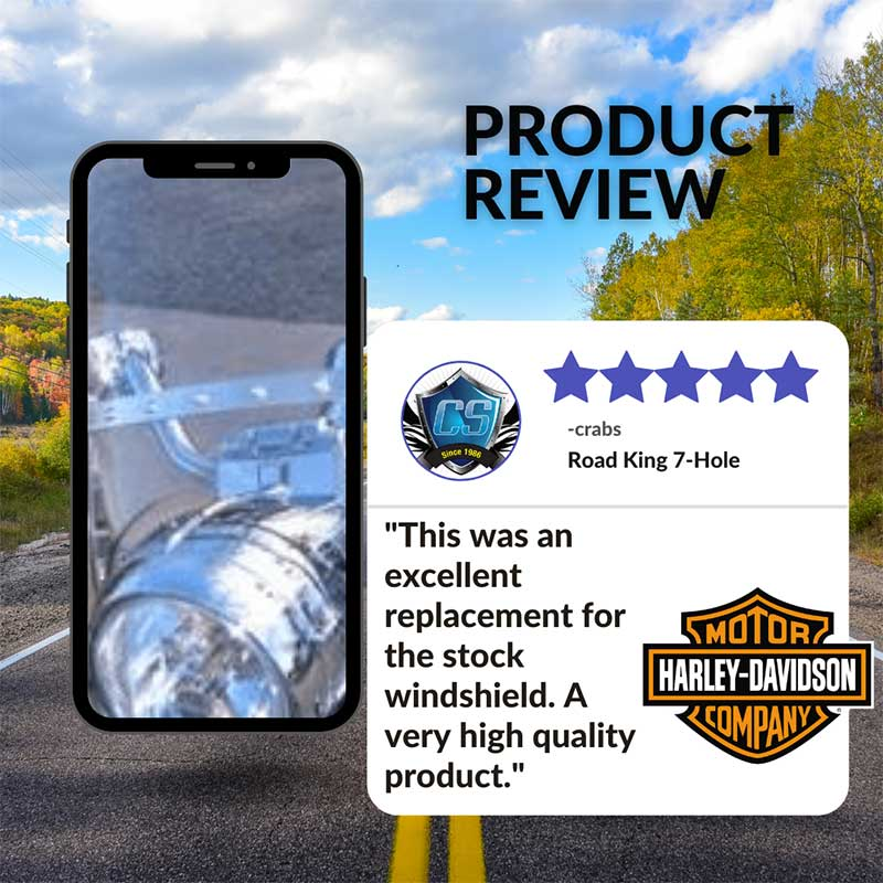 road king windshield review